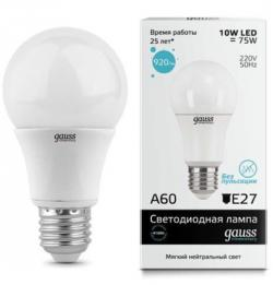 Лампа Gauss LED Elementary A60 E27 12W 2700K   SQ 23212