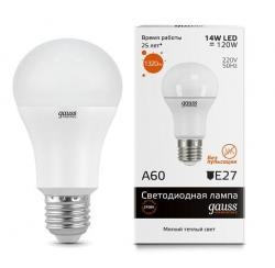 Лампа Gauss LED Elementary A60 E27 15W 2700K   SQ 23215